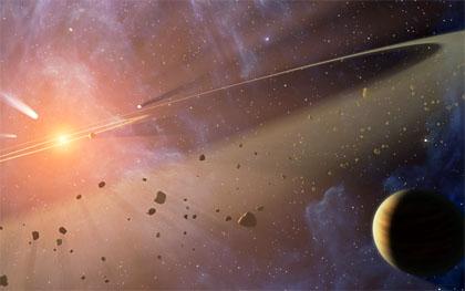 Головний пояс астероїдів між Марсом і Юпітером