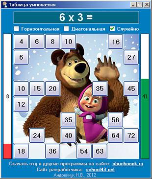 Таблиця множення в мультиках для дітей