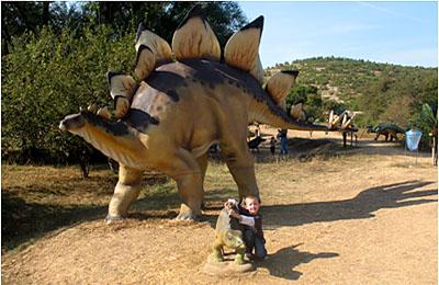 На виставці динозаврів